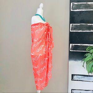 Dresses - NWOT Coral Sea Horse Print Beach Sarong + Dress